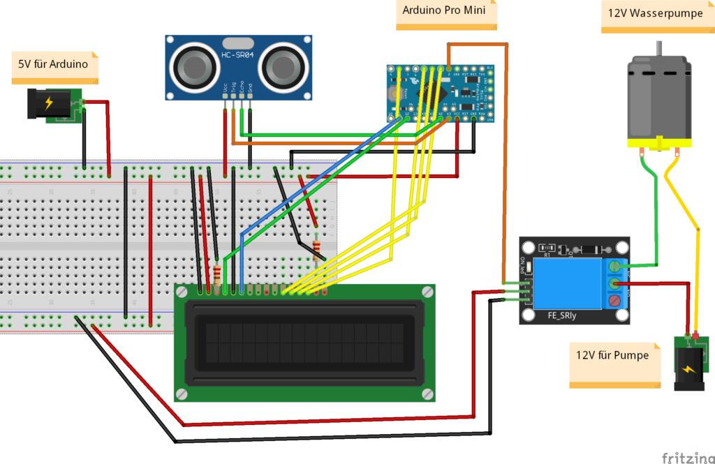 Sketch automatisches Trinksystem Arduino