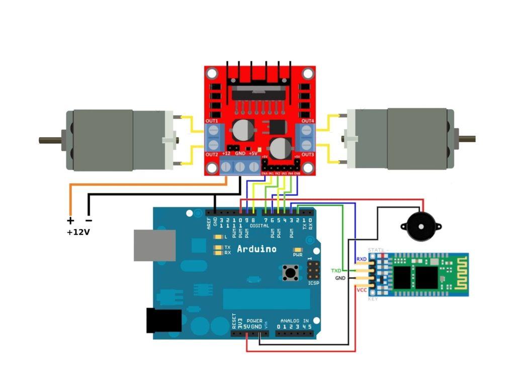 Arduino Roboter Bluetooth